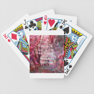 True love is not easy to find it bicycle playing cards