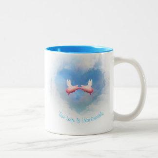 True Love Is Unbelievable-Flying Pigs In Love Two-Tone Coffee Mug