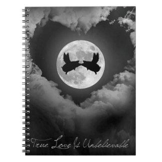 True Love Is Unbelievable-Flying Pigs Kissing Notebook