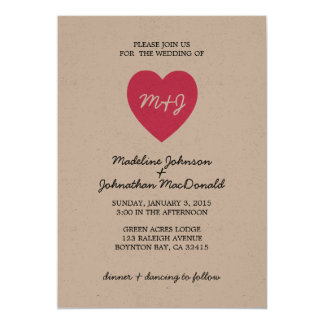 True Love Modern Wedding Invitation PINK