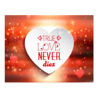 True Love Never Dies Postcard