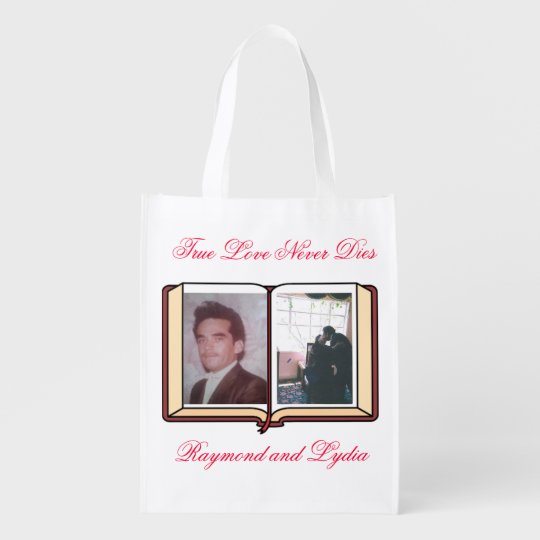 True Love Never Dies Reusable Grocery Bags