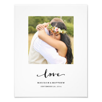 True Love | Personalized Wedding Print Photo Print