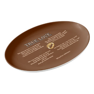 True Love Porcelain Serving Platter
