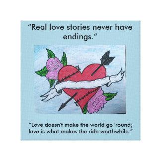 True Love Quote Canvas Print