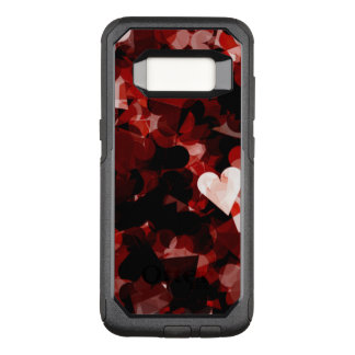 True Love Red Hearts Emotion with Black Pattern OtterBox Commuter Samsung Galaxy S8 Case