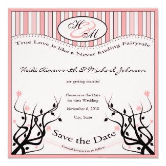 """True love Save the Date 5.25"""" Square Invitation Card"""