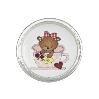 True Love Teddy Bear Rings