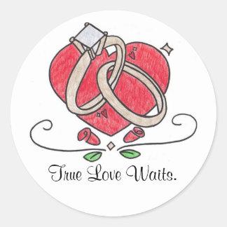 True Love Waits. Round Sticker