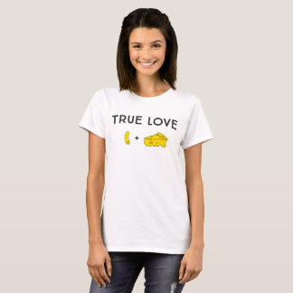 True Love with Illustrated Macaroni + Cheese Wedge T-Shirt