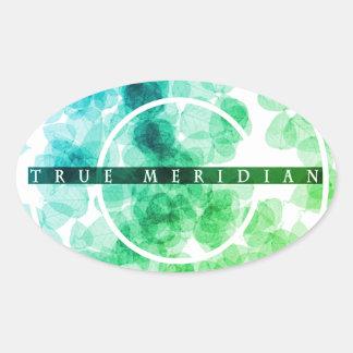 True Meridian Oval Sticker