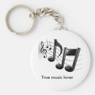 true music lover keychain