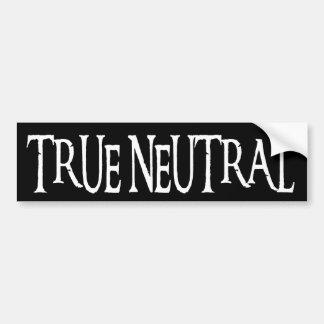 """""""True Neutral"""" Bumper Sticker"""
