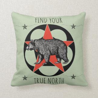 True North Bear Throw Pillow