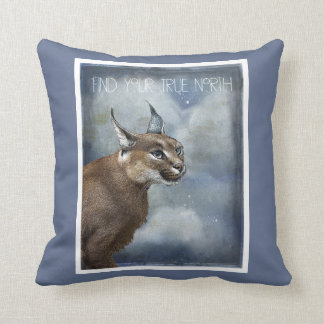 True North Bobcat And Mystical Clouds Throw Pillow