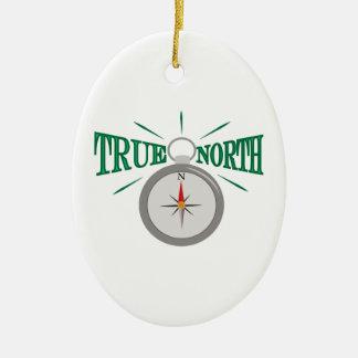 True North Ceramic Ornament