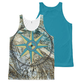 True North Compass And Map Tank Top