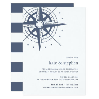 True North | Nautical Rehearsal Dinner Invitation