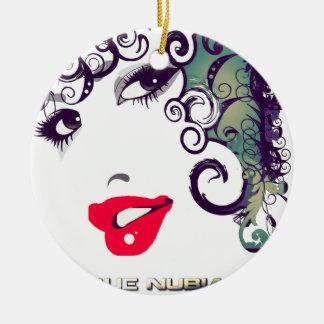 True Nubia Gear & Merchandise Round Ceramic Ornament