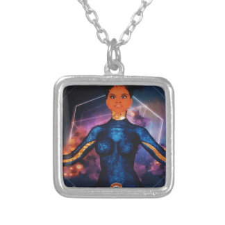true_nubia_mascot1 silver plated necklace