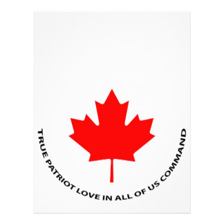 True patriot love in all of us command letterhead