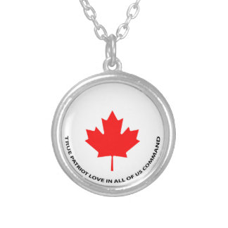 True patriot love in all of us command silver plated necklace