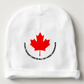 true patriot love in all thy sons command baby beanie