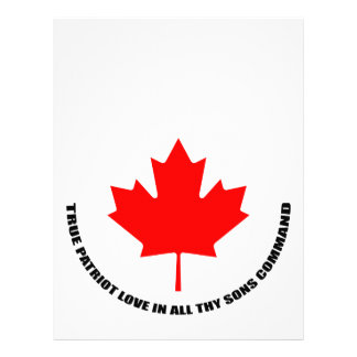 true patriot love in all thy sons command letterhead