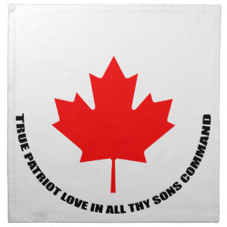 true patriot love in all thy sons command napkin
