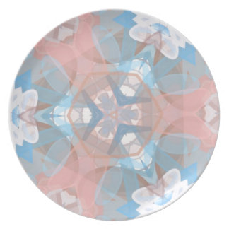 True Pinkish Blue Dinner Plates