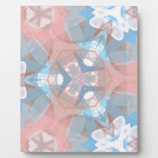 True Pinkish Blue Plaque