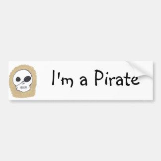 True pirates car bumper sticker