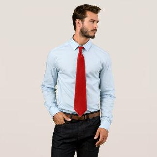 True Red Ruby Jewel Foulard Satin Tie