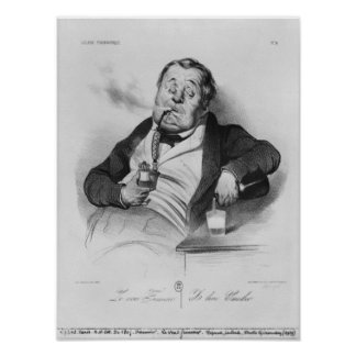 true smoker, from series 'Galerie physionomique' Poster