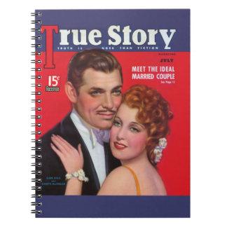 True Story - Clark Gable & Jeanette MacDonald Notebook