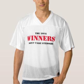 True Winners Don't Take Steroids Men's Football Jersey