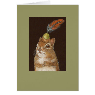 true wuv card with baby squirrel