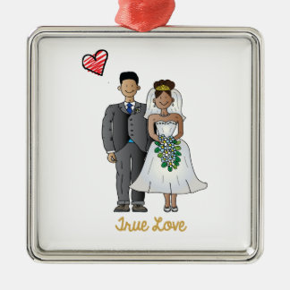 Truelove1 Metal Ornament
