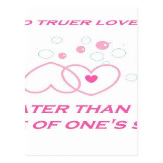 truer love statement postcard