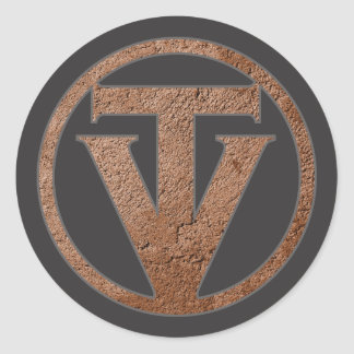 TrueVanguard Stickers - Dark Grey Background