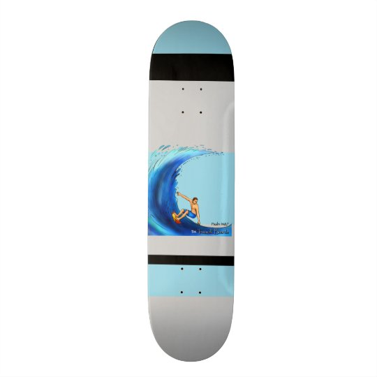 "TRUEWALK WAVE BOARD 7¾"" CUSTOM SKATEBOARD"