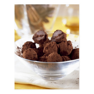 Truffles with 70% black chocolate For use in Postcard