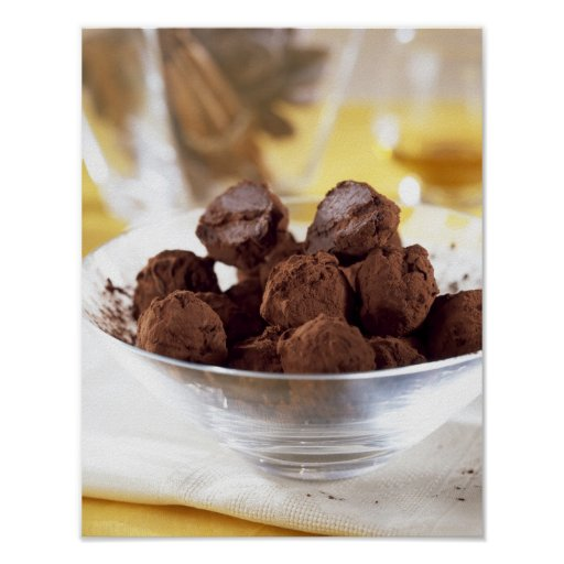 Truffles with 70% black chocolate For use in Print