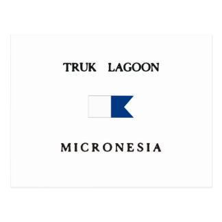 Truk Lagoon Micronesia Alpha Dive Flag Postcard