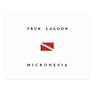 Truk Lagoon Micronesia Scuba Dive Flag Postcard
