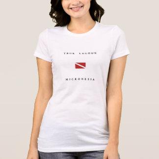 Truk Lagoon Micronesia Scuba Dive Flag T-Shirt