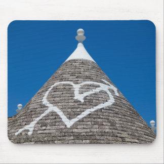 Trulli house roof mousepad