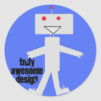 truly awesome design  robot   sticker