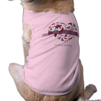 Truly Force Free Pink Doggy Ribbed Tank Top Dog Tee
