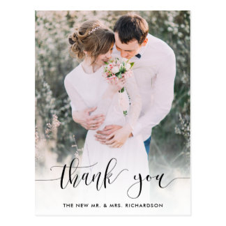 Truly Thankful | Wedding Photo Thank You Postcard